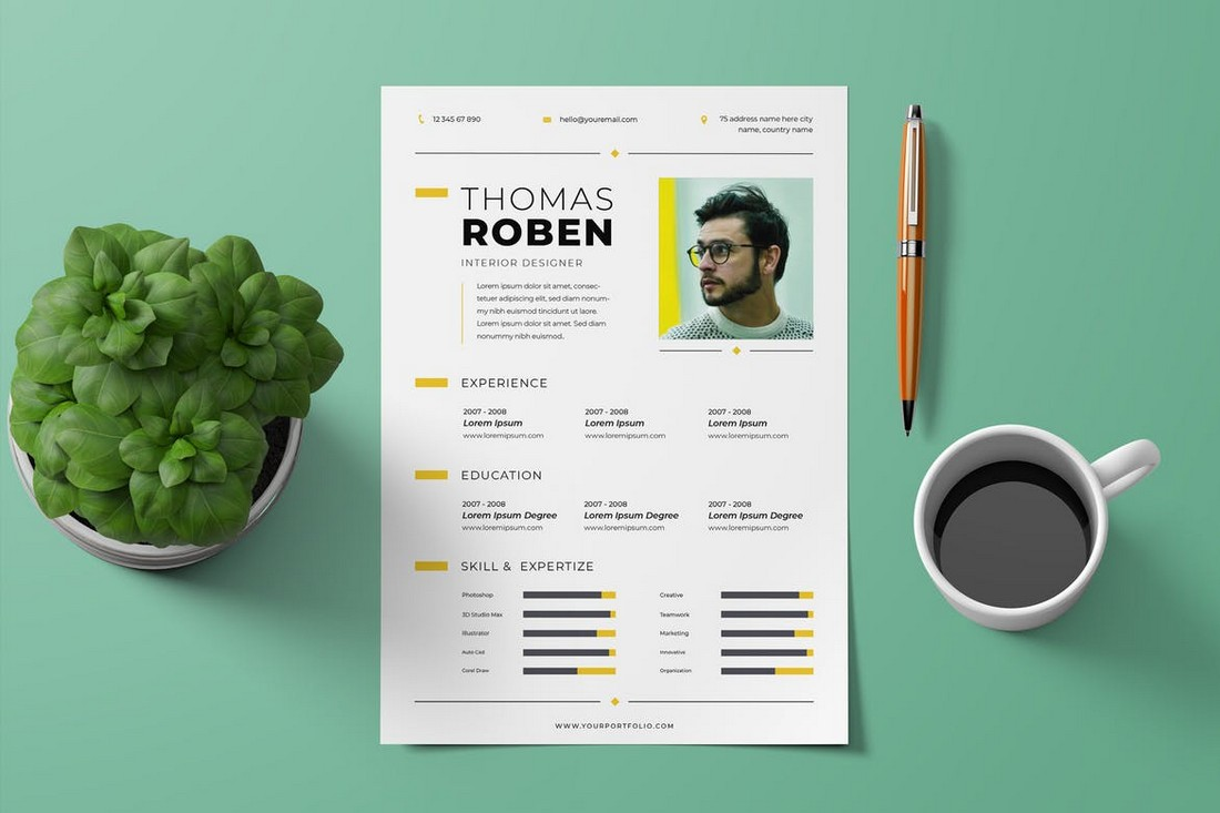 Creative CV Resume InDesign Template