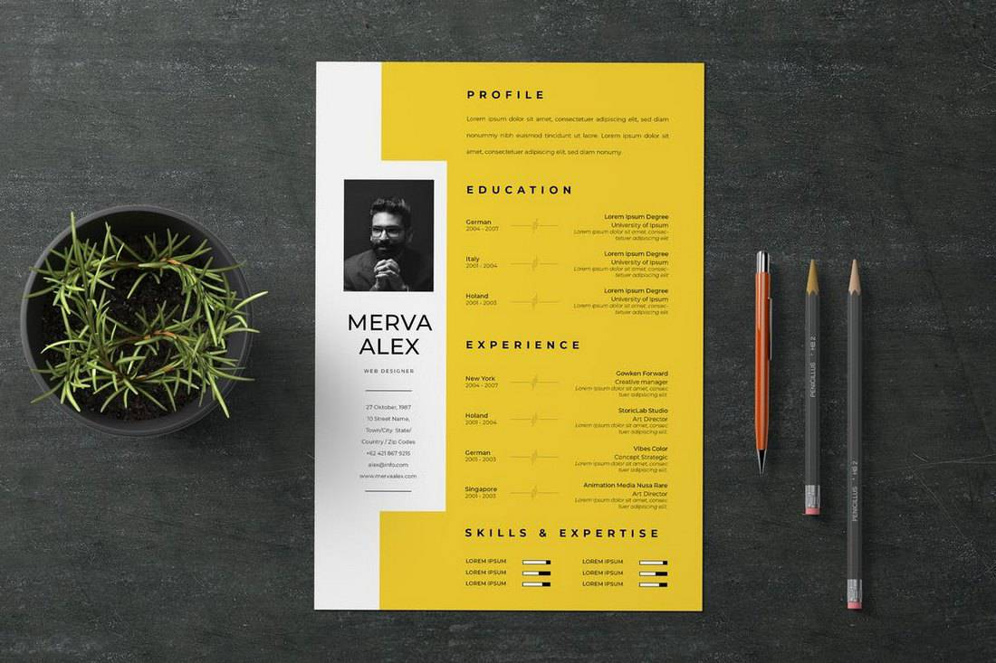 Creative-CV-Resume-Template 50+ Best CV & Resume Templates 2020 design tips