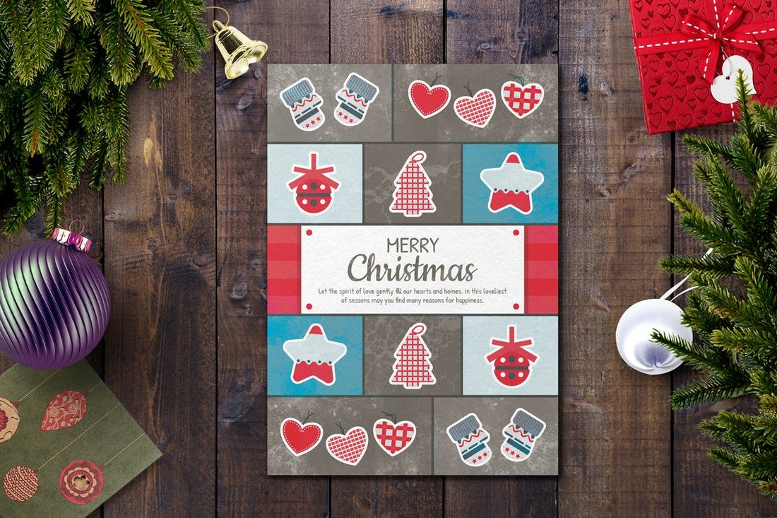 Creative Christmas Card Template