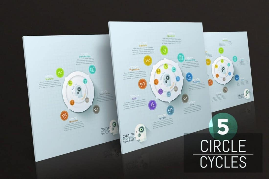 Creative Circle Process Infographics