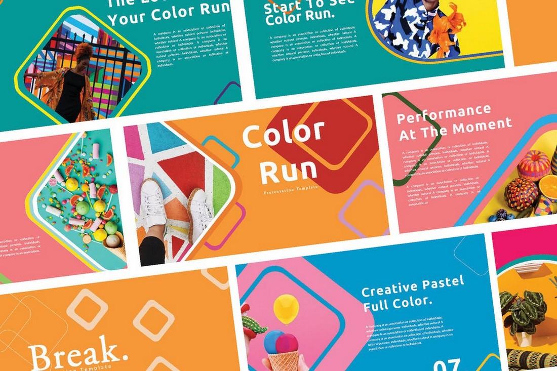 Creative Color Run - Powerpoint Template