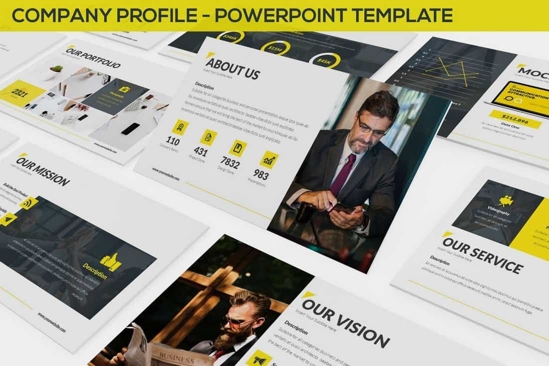 Creative-Company-Profile-Powerpoint-Template 20+ Best Company Profile Templates (Word + PowerPoint) design tips  Inspiration|company profile