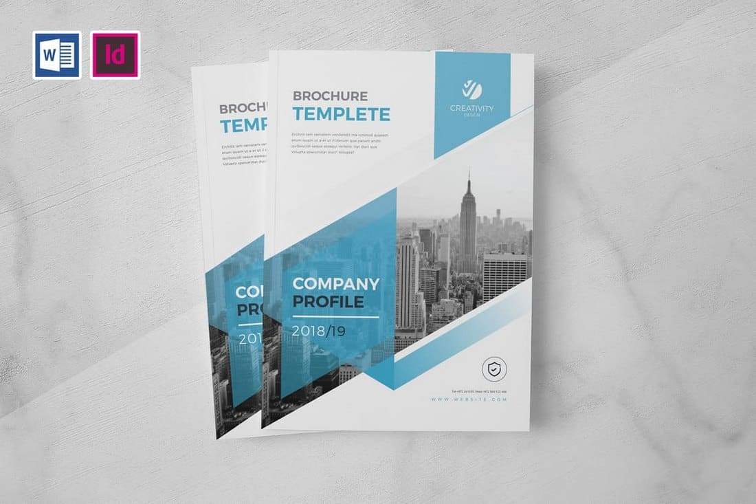 Creative-Company-Profile-Word-Template 20+ Best Company Profile Templates (Word + PowerPoint) design tips  Inspiration|company profile