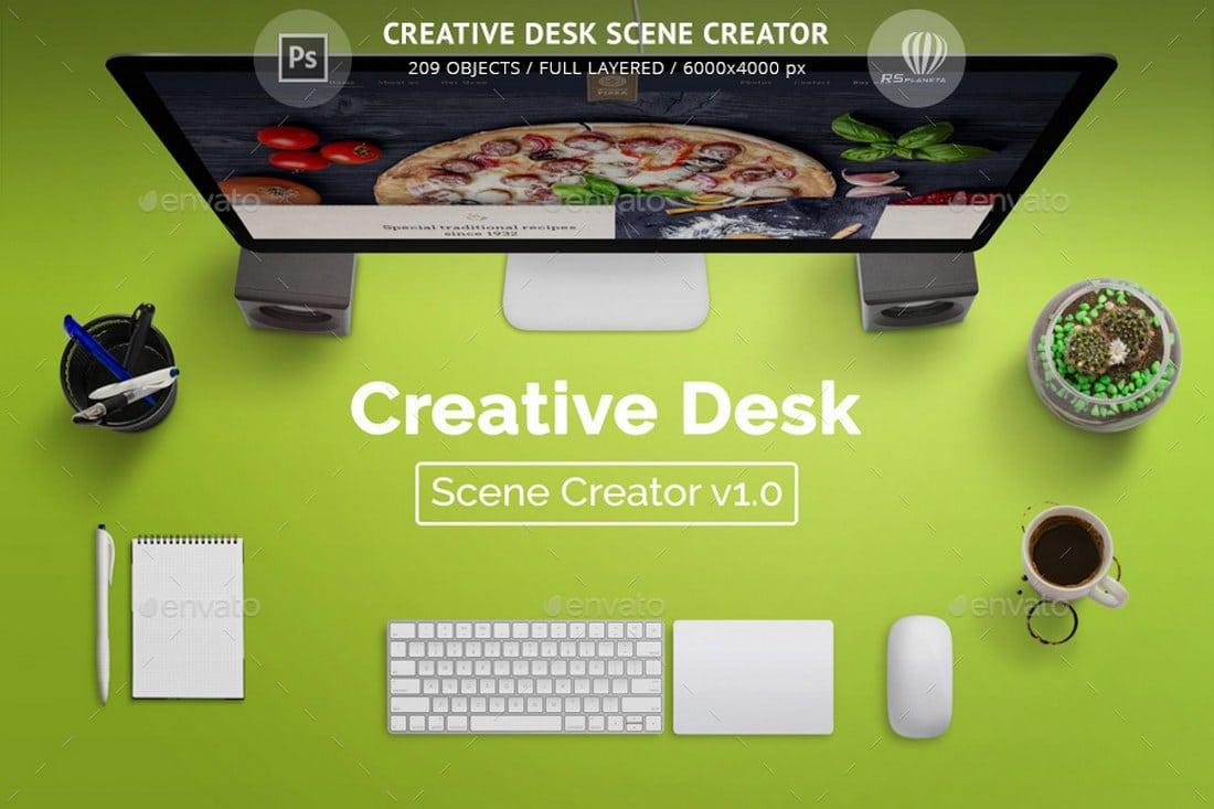 Creative Desk Scene Creator