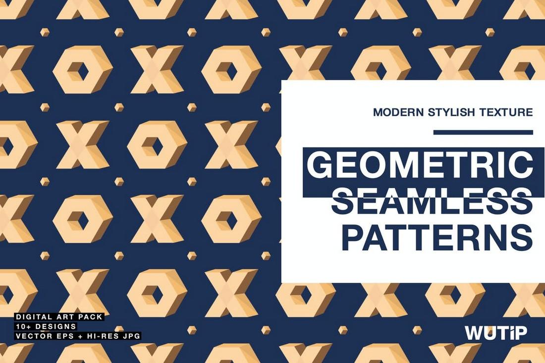 Creative Geometric Seamless Patterns