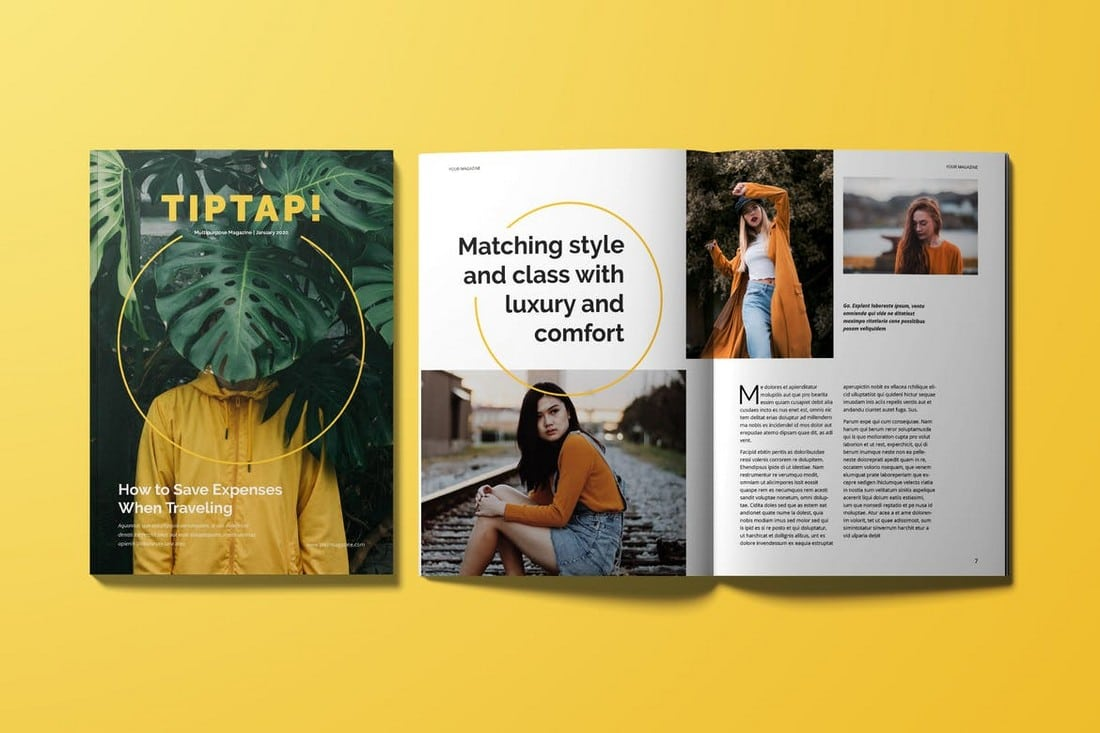 Creative InDesign Magazine Template