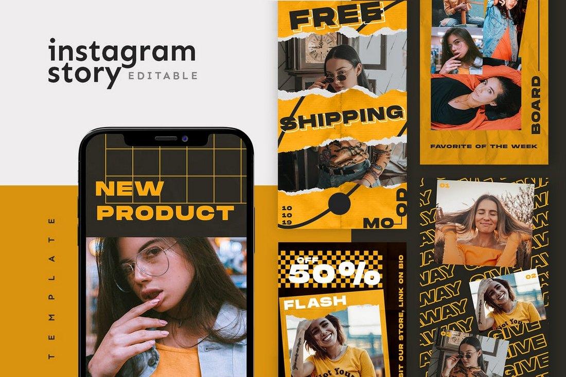 Creative Instagram Story Template