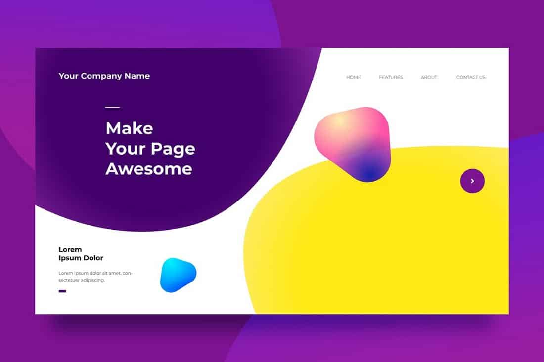 Creative Landing Page Background Template