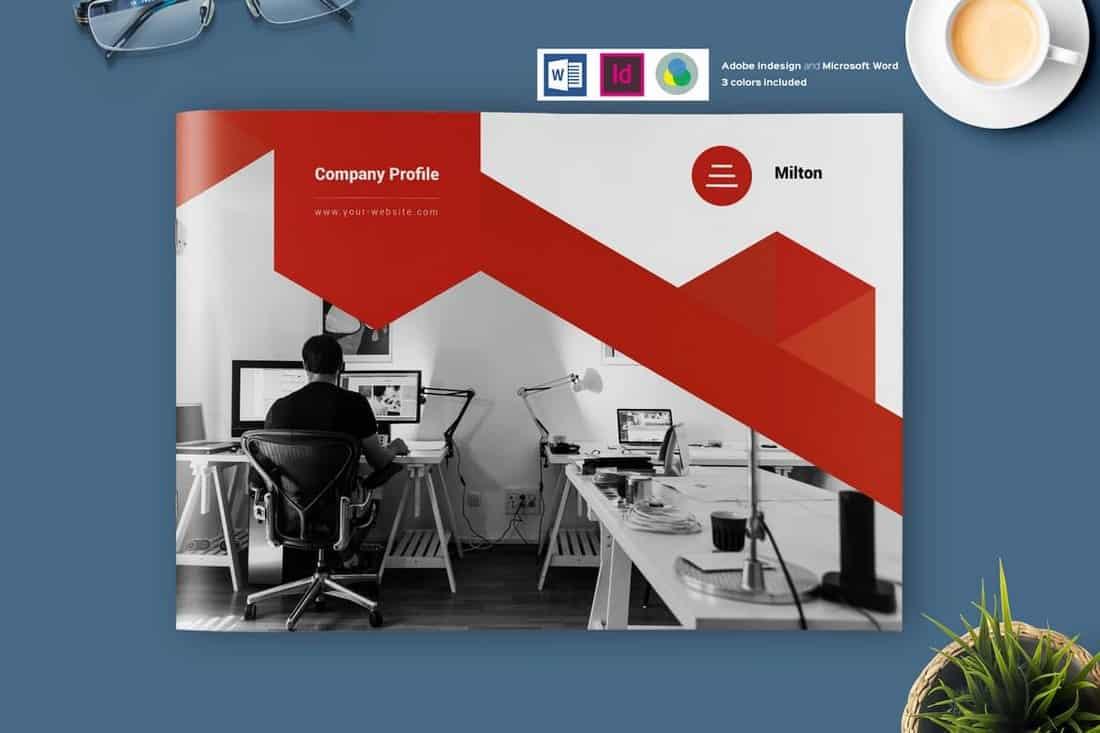 Creative Landscape Company Profile Template