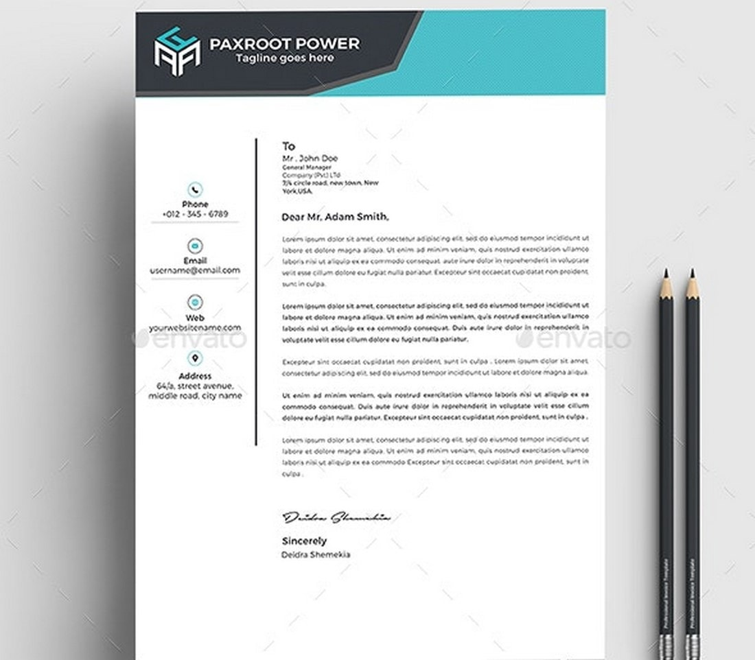 Creative Letterhead Template for Word