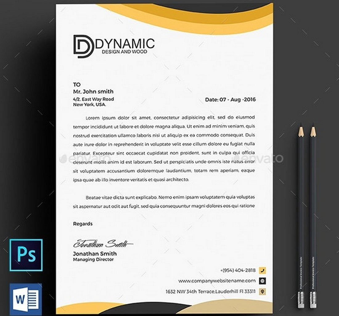 Creative MS Word Letterhead Template