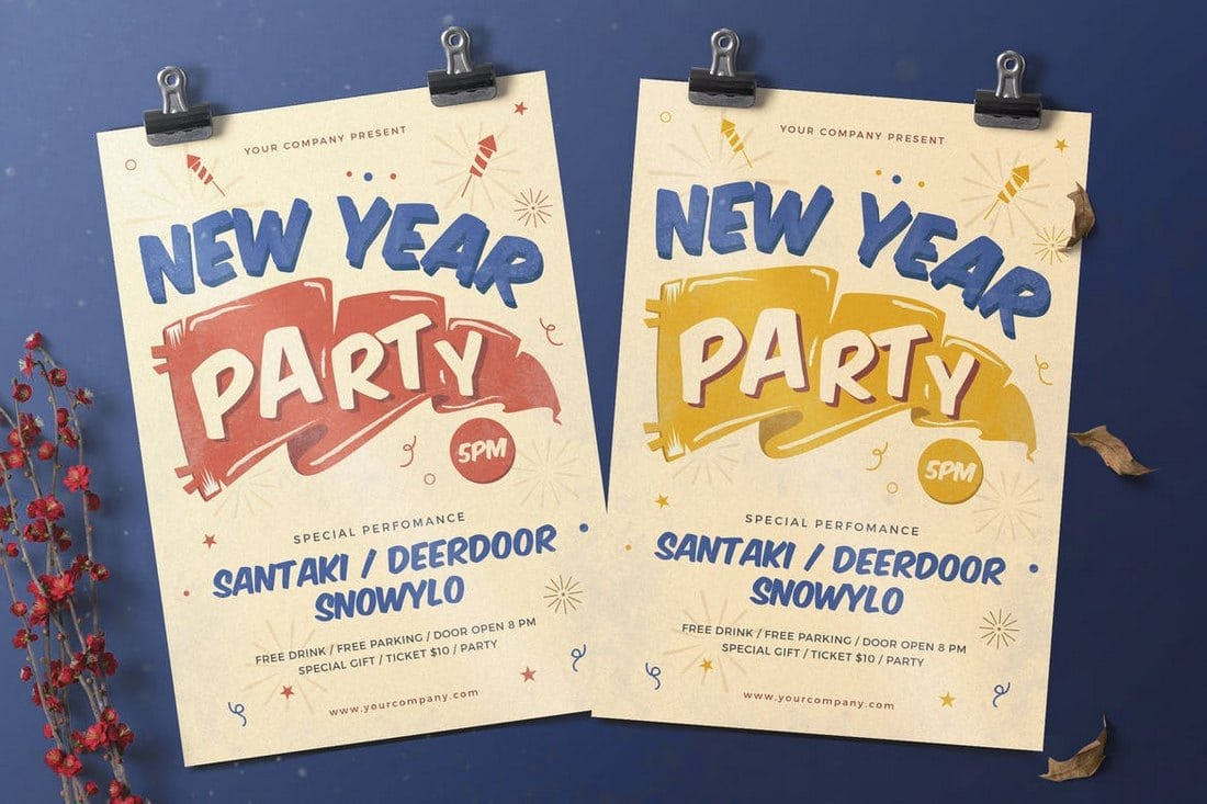 Creative-New-Year-Party-Flyer 30+ Best Event Flyer Templates design tips