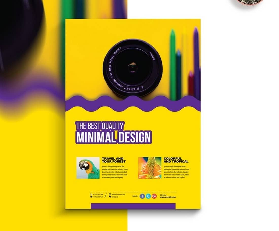 Creative-Photography-Poster-Template 20+ Best Free Poster Templates (Illustrator & Photoshop) 2020 design tips  Inspiration