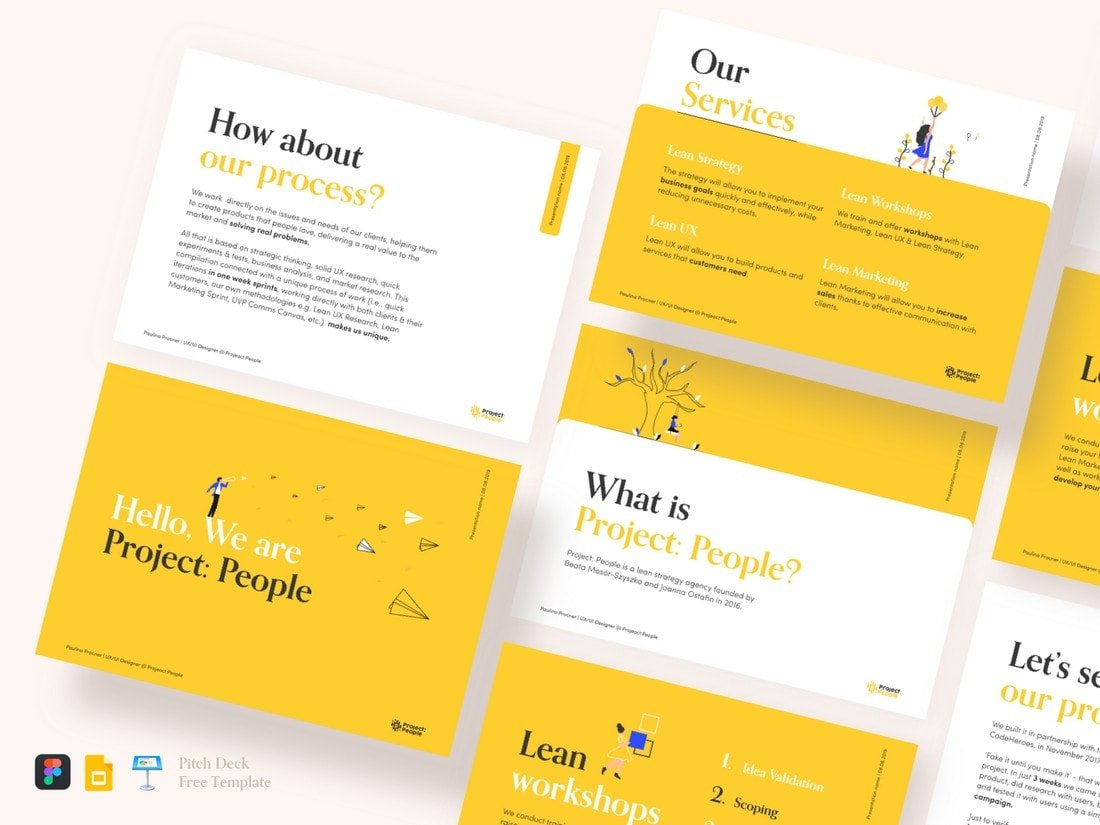 Creative Pitch Deck - Free Keynote Template