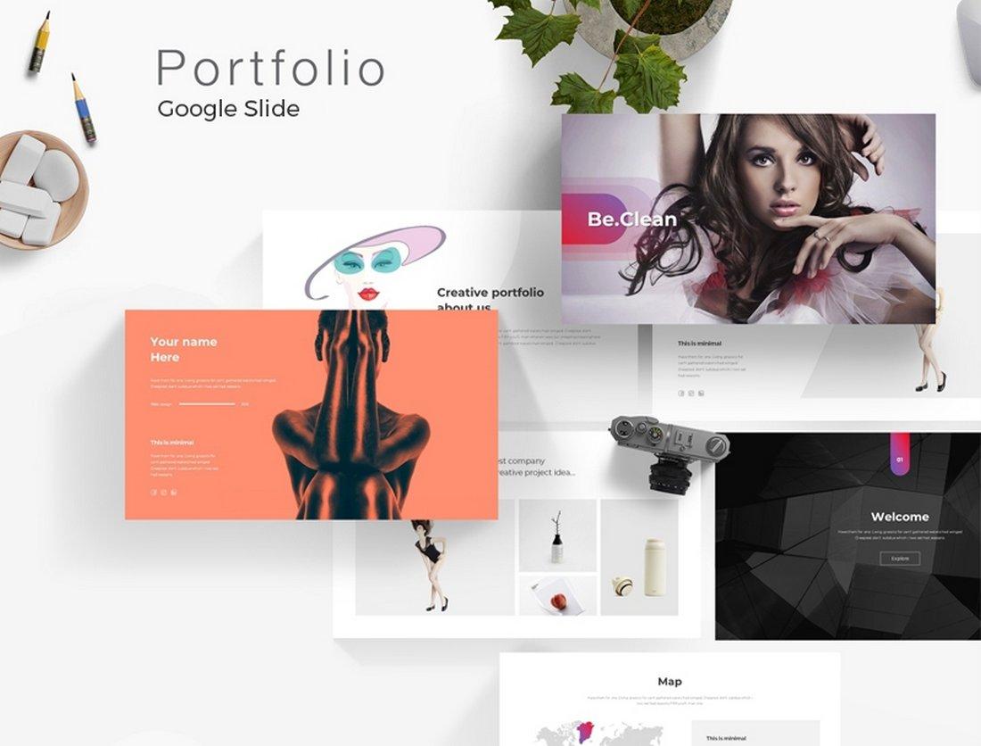 Creative Portfolio Free Google Slides Template