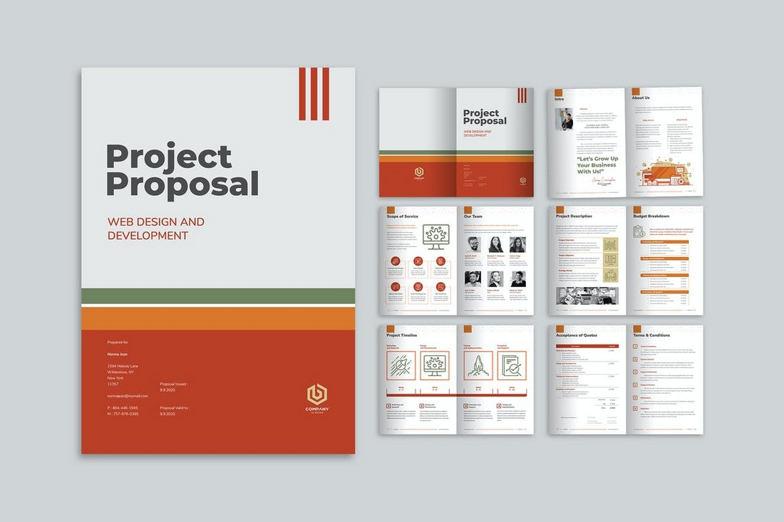 Creative-Project-Proposal-Brochure-Template 70+ Modern Corporate Brochure Templates design tips