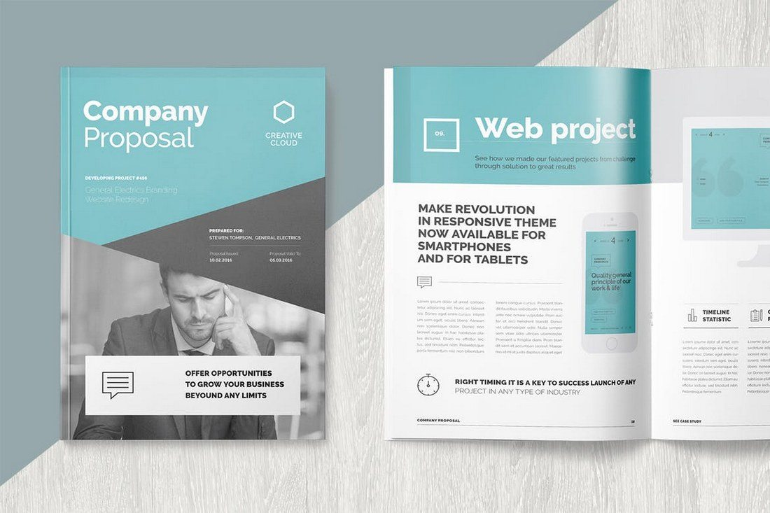 20 best microsoft word brochure templates design shack whether youre working on a proposal for a web design project or a new promotional budget proposal this stylish and creative brochure template will help flashek Images