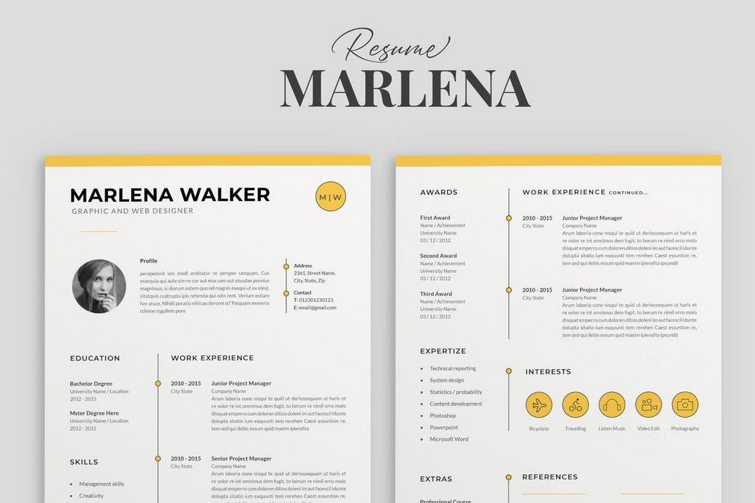 Creative Resume CV for Apple Pages