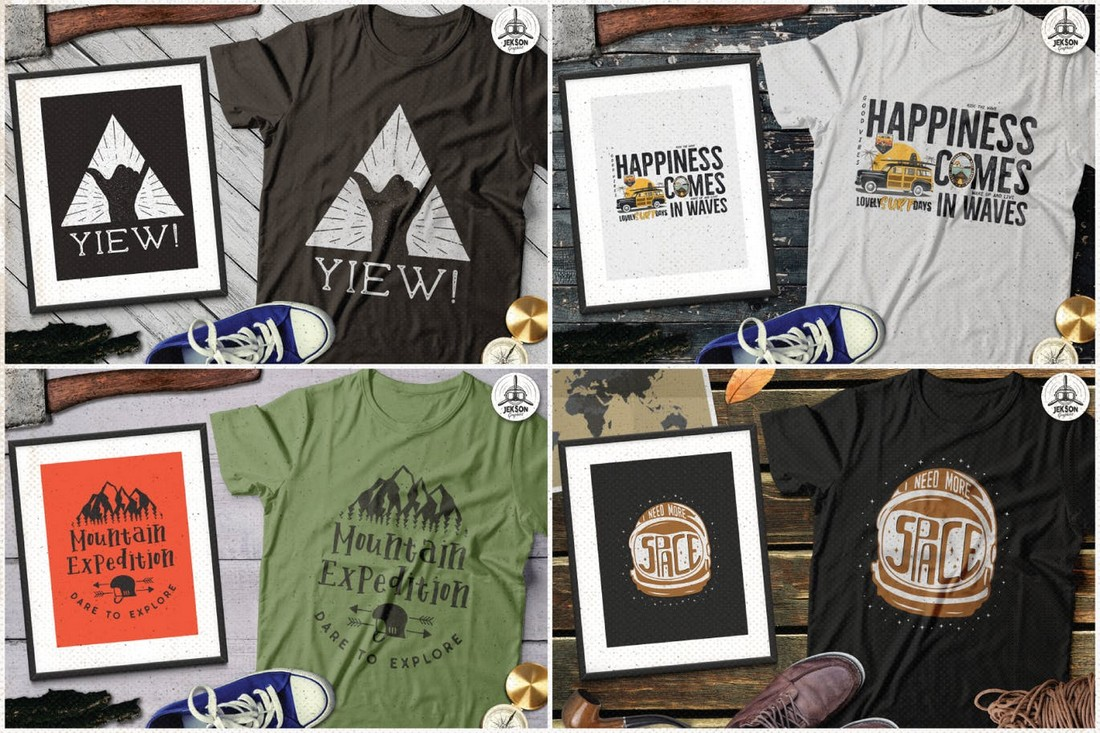 Creative Retro T-Shirt Design Collection