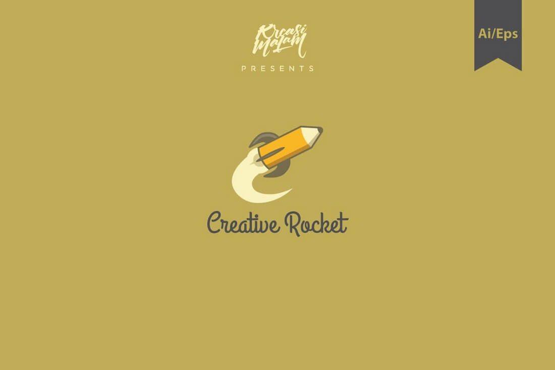 Creative-Rocket-Logo-Template 50+ Best Minimal Logo Design Templates design tips