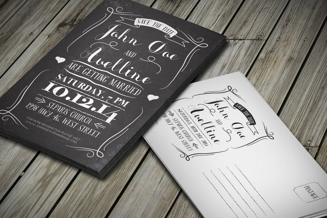 Creative-Save-The-Date-Postcard-Template 15+ Gorgeous Save the Date Wedding Templates design tips