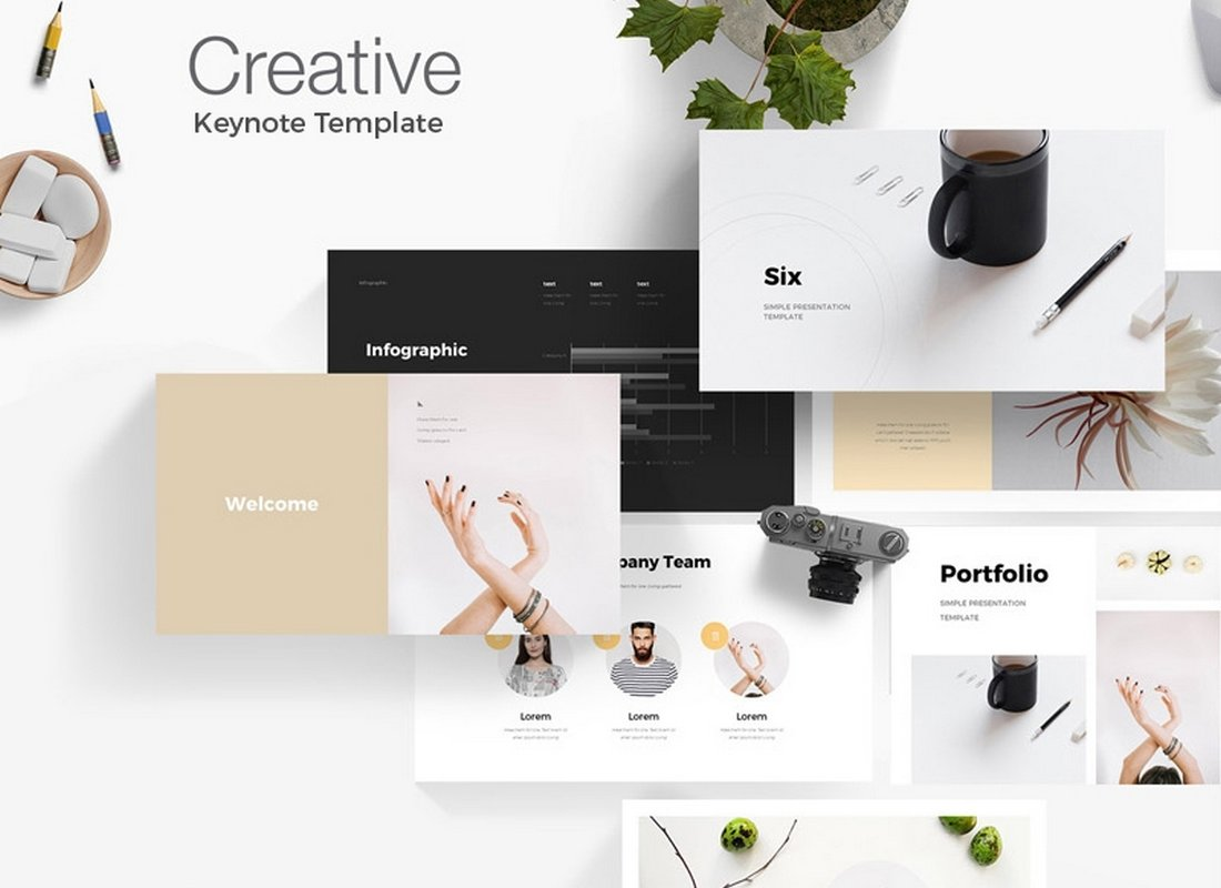 Creative-Six-Free-Keynote-Template 50+ Best Keynote Templates of 2021 design tips