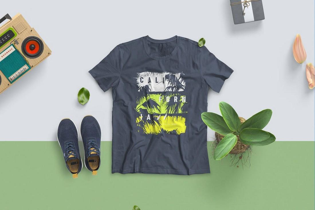 Creative T-Shirt Mockup Scene