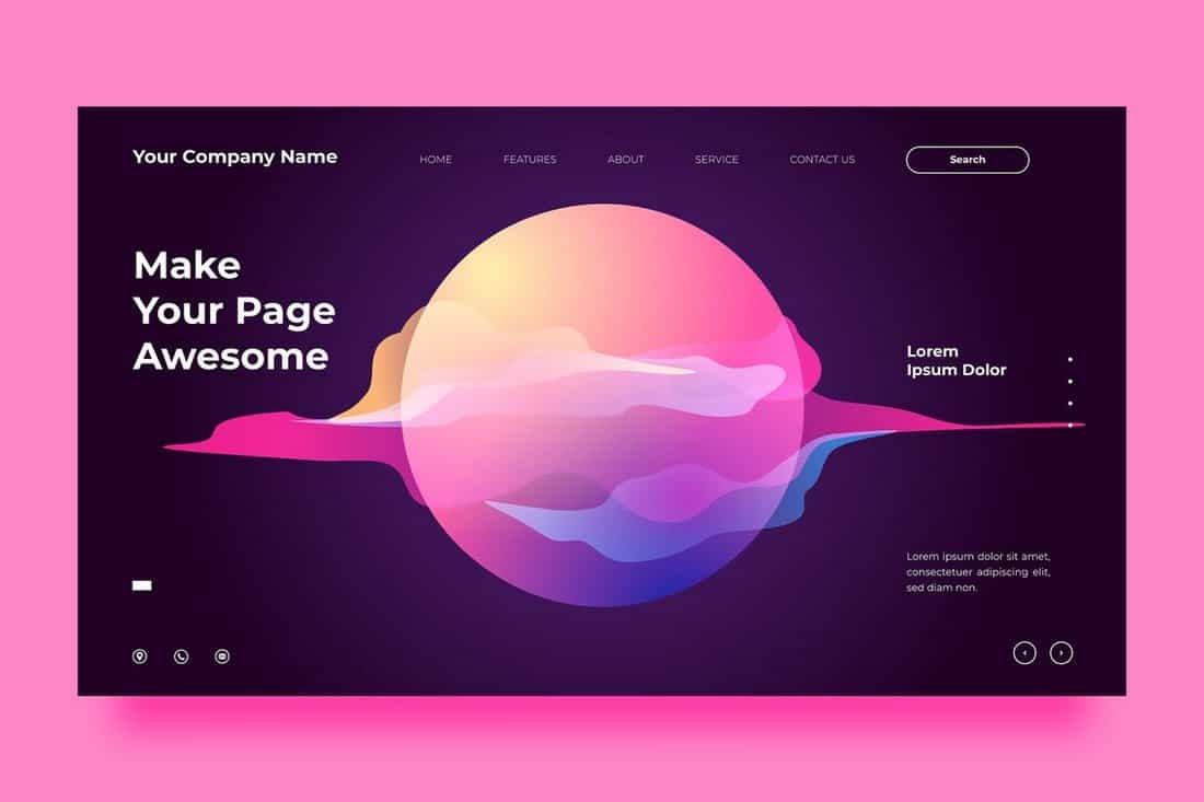 Creative Website Background Template
