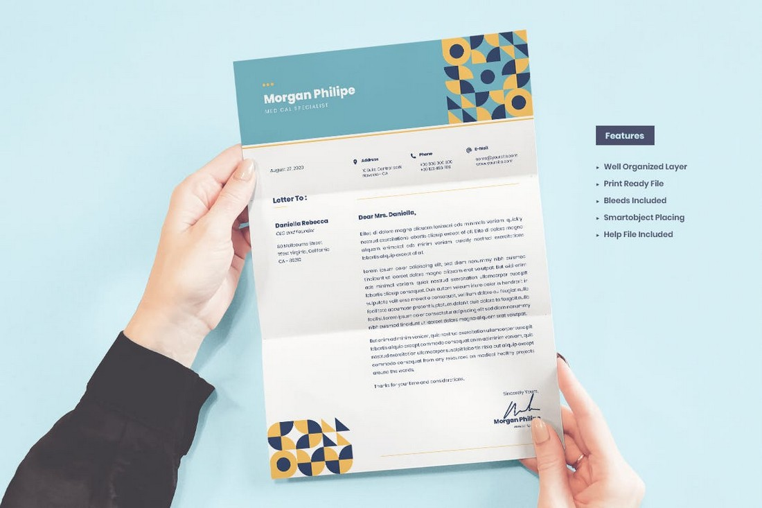 Creative Word Cover Letter Template