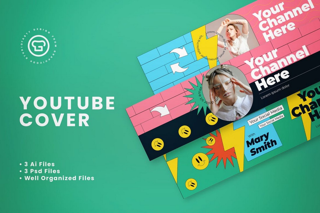 Creative Youtube Cover Banner Templates
