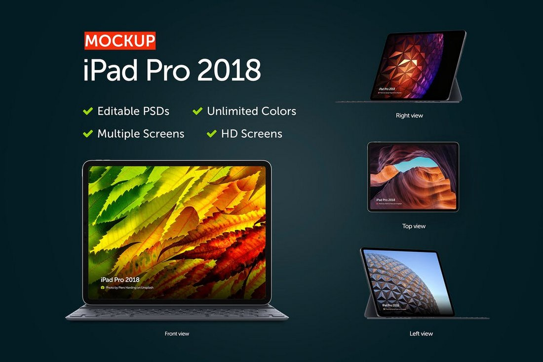 Creative iPad Pro Mockup Templates