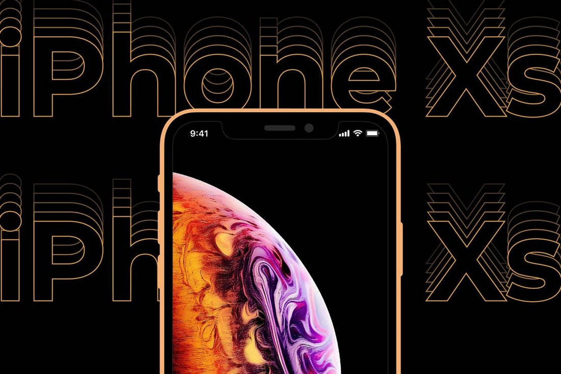 Creative iPhone XS Mockup Template