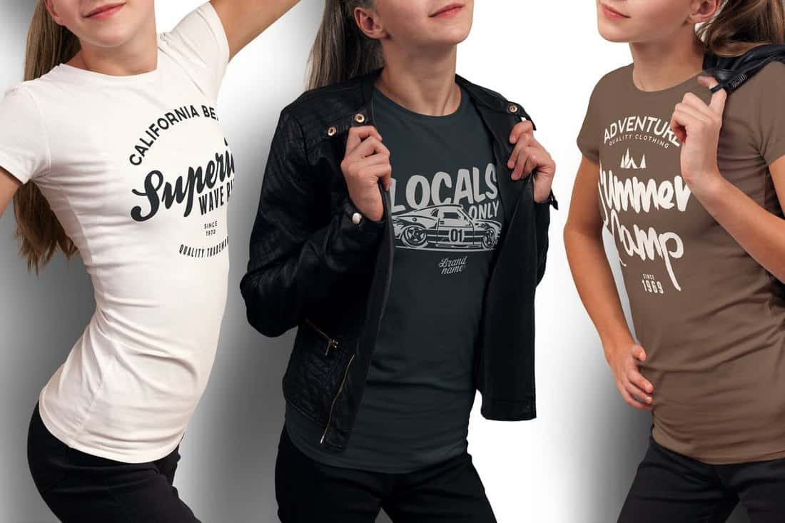 Crew Neck T-shirt Mockup Templates