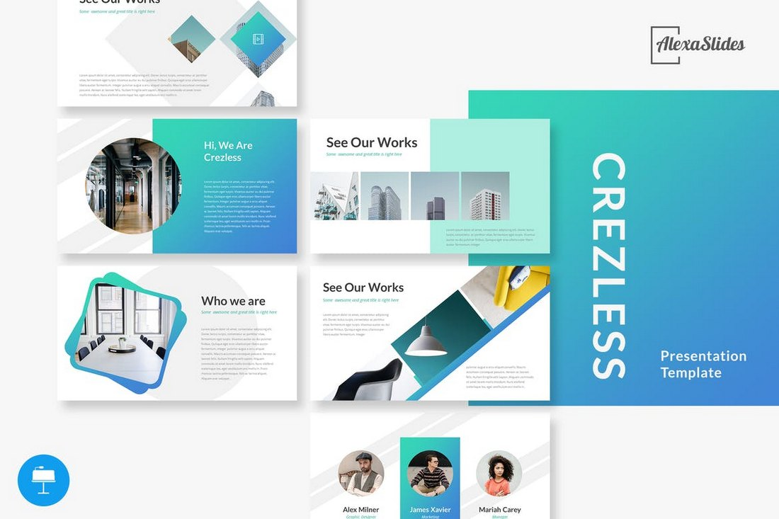 Crezless-Keynote-Presentation-Template 30+ Best Minimal & Creative Keynote Templates design tips
