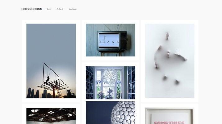 Criss-Cross-Free-Tumblr-Theme 50+ Best Free & Premium Tumblr Themes 2018 design tips