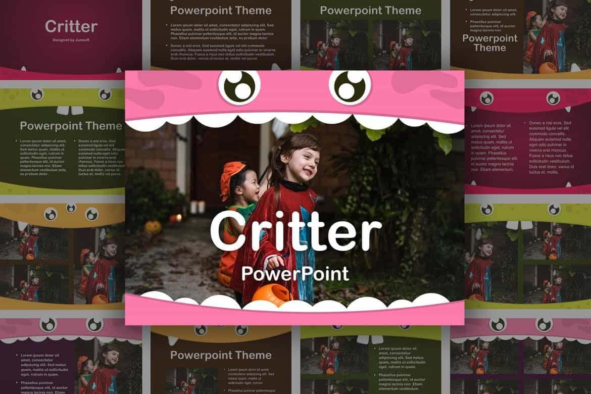 Critter - Fun Kids PowerPoint Template
