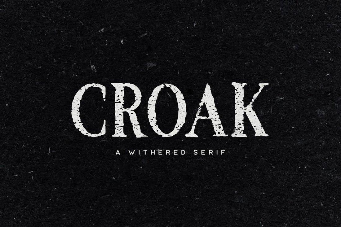 Croak-Typeface 100+ Best Modern Serif Fonts design tips