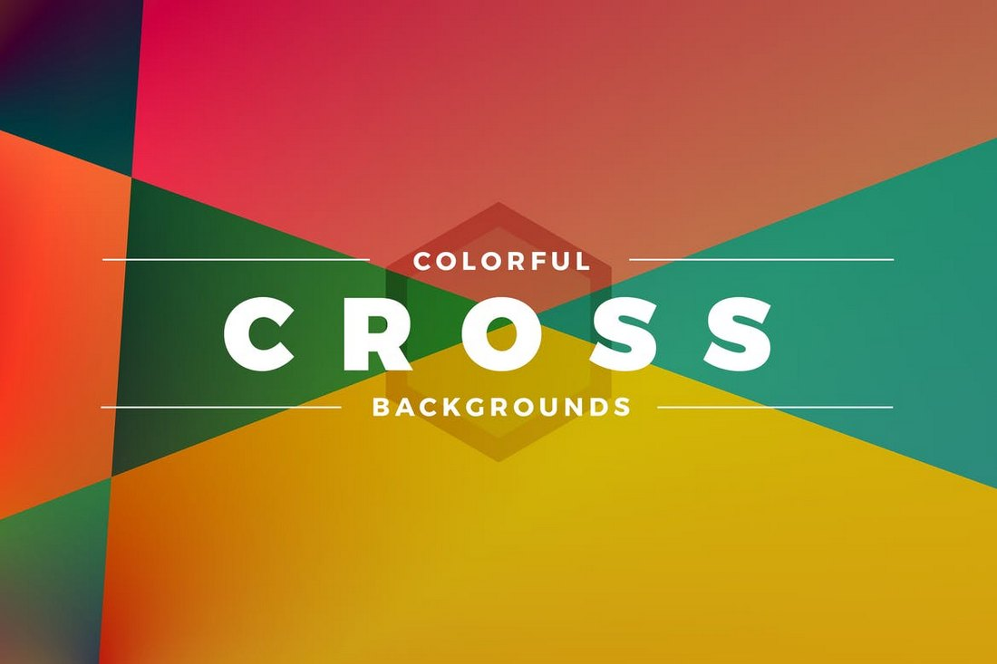 Cross Colorful Backgrounds