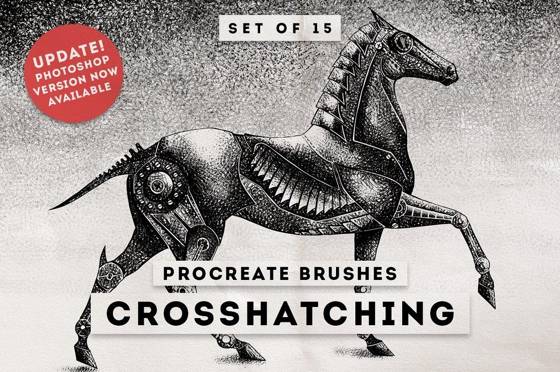 Crosshatching-Procreate-brushes 30+ Best Procreate Brushes design tips