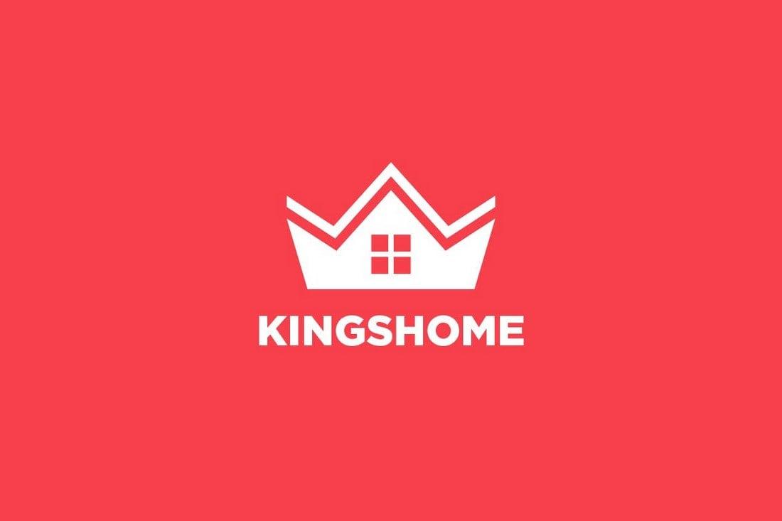 Crown-House-Real-Estate-Logo 50+ Best Minimal Logo Design Templates design tips