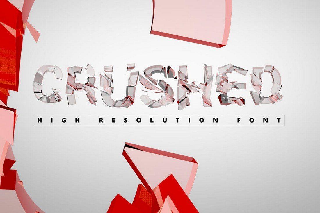 Crushed-Transparent-Font 30+ Best Modern & Futuristic Fonts 2021 design tips