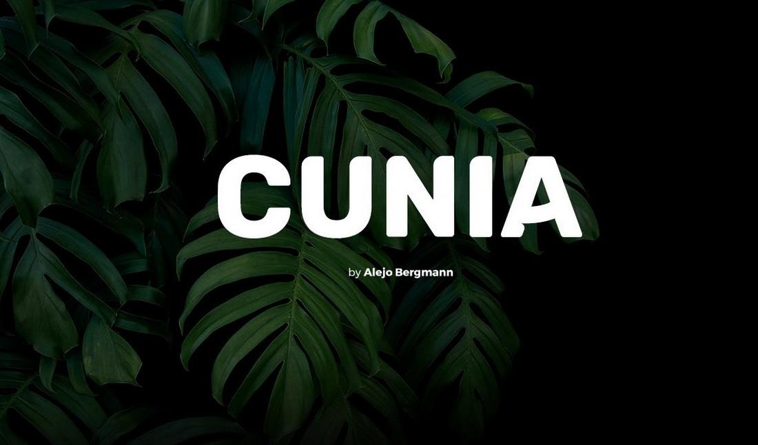 Cunia - Free Bold Title Font