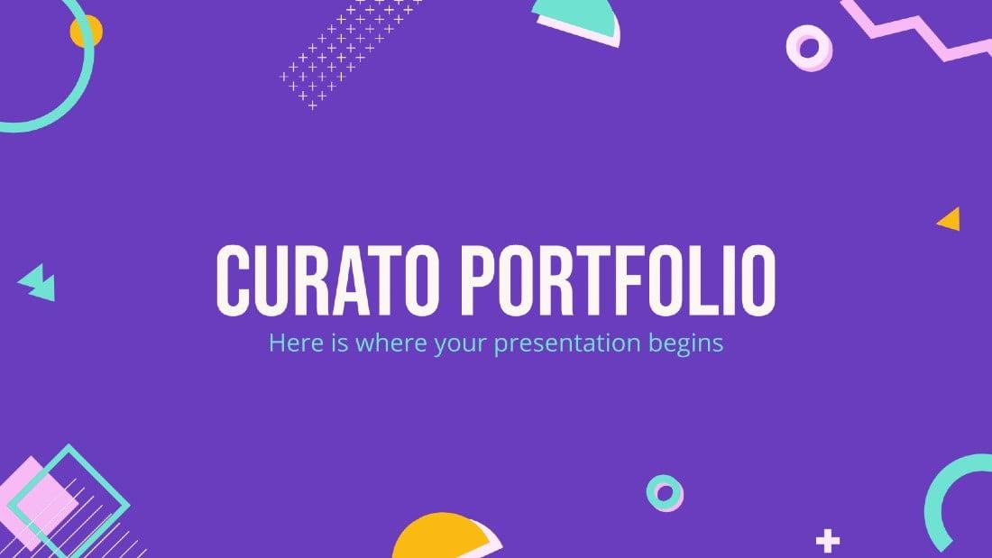 Curato - Free Creative Portfolio PowerPoint Template