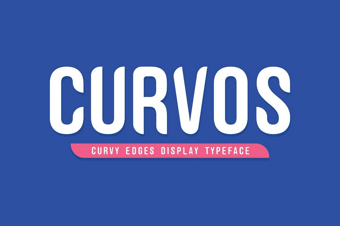 Curvos-Font-Bonus-Badge 40+ Best Condensed & Narrow Fonts of 2019 design tips