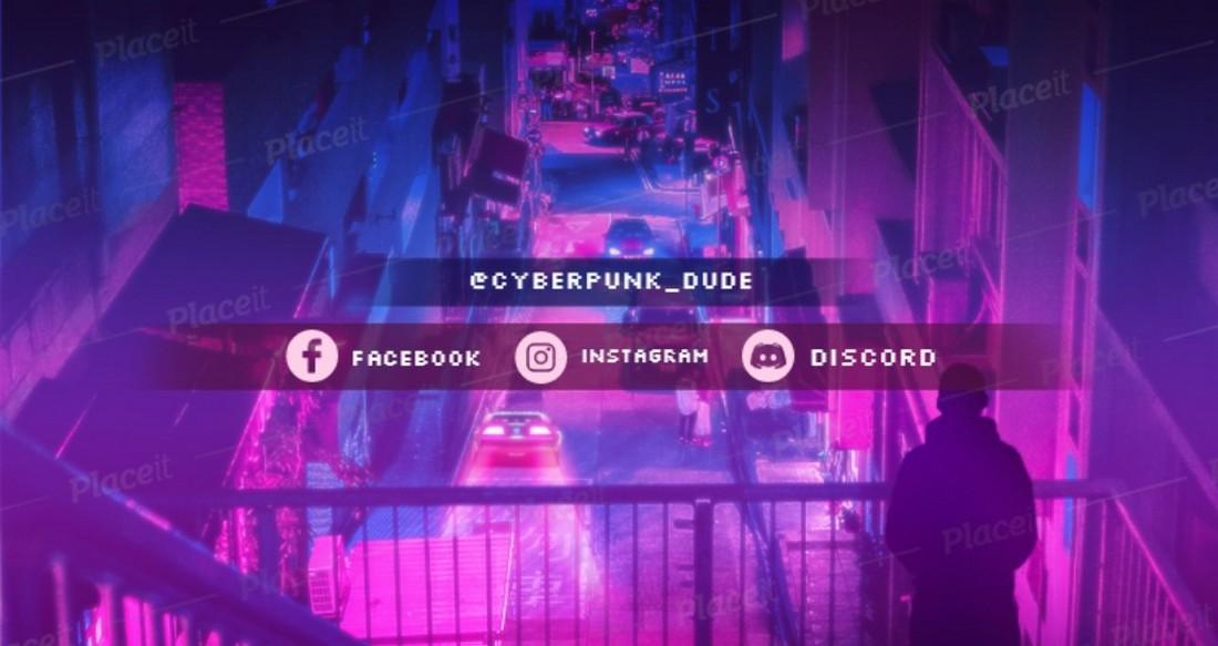 Cyberpunk Twitch Banner Template