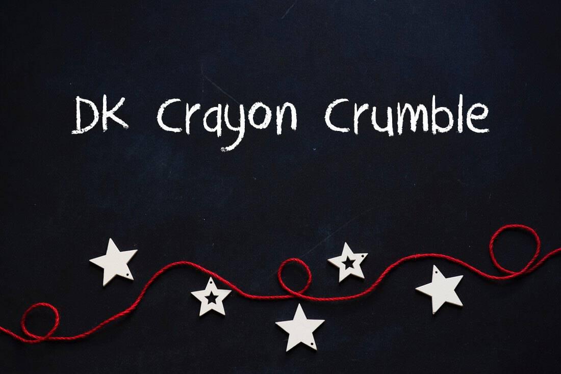 DK Crayon Crumble Chalkboard Font