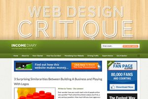 Web Design Critique #75: Income Diary