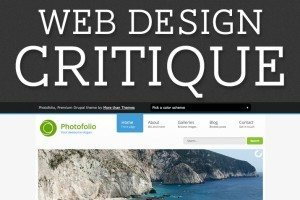 Web Design Critique #91: Photofolio
