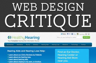 Web Design Critique #94: HealthyHearing