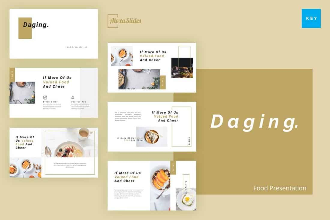 Daging - Food Keynote Presentation Template